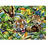 Puzzle  Ravensburger-13201 XXL Teile - Wilde Tiere