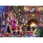 Puzzle  Ravensburger-13217 Umarmung für den Weihnachtsmann