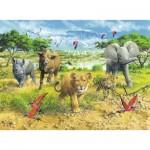 Puzzle  Ravensburger-13219 Afrikas Tierkinder