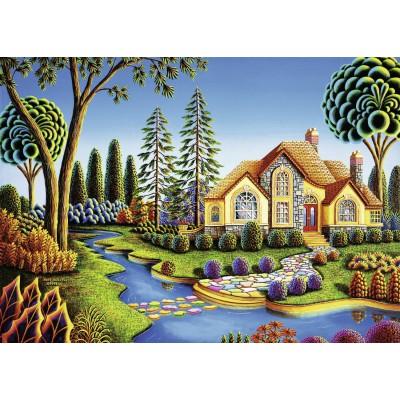 Puzzle Ravensburger-13567 XXL Teile - Cottage Dream
