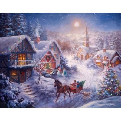 Puzzle Ravensburger-13581 XXL Teile - Weihnachten