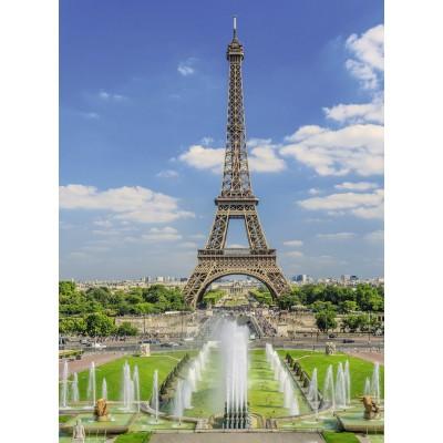 Puzzle Ravensburger-13643 XXL Teile - Blick auf den Eiffelturm