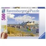 Puzzle  Ravensburger-13652 XXL Teile - Strandkörbe in Ahlbeck