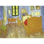 Puzzle  Ravensburger-13656 XXL Teile - Vincent van Gogh: Schlafzimmer in Arles