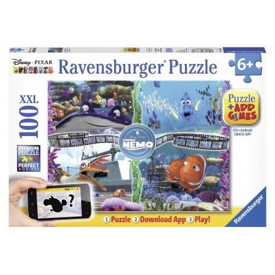 Puzzle Ravensburger-13661 Findet Nemo - QR Code für die Gratis-App