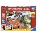 Puzzle  Ravensburger-13662 Cars in Aktion - QR Code für die Gratis-App