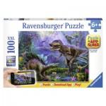 Puzzle  Ravensburger-13664 Reich des T-Rex - QR Code für die Gratis-App