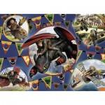 Puzzle  Ravensburger-13665 XXL Teile - Dragons