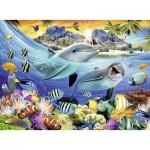 Puzzle  Ravensburger-13667 Leuchtendes Korallenriff