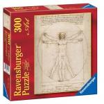 Puzzle  Ravensburger-14012 Der vitruvianische Mensch