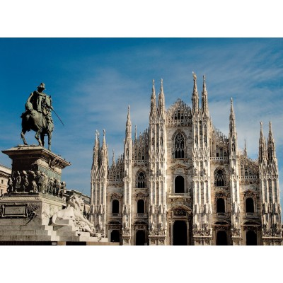 Puzzle Ravensburger-14015 Mailand, Piazza del Duomo