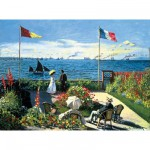 Puzzle  Ravensburger-14020 Monet: Terrasse bei Sainte-Adresse