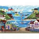 Puzzle  Ravensburger-14125 Liebliche Küste