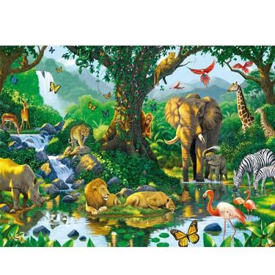 Puzzle Ravensburger-14171 Dschungelharmonie