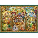 Puzzle  Ravensburger-14183 Disney Familie
