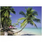 Puzzle  Ravensburger-14389 Am Strand von Punta Bonita