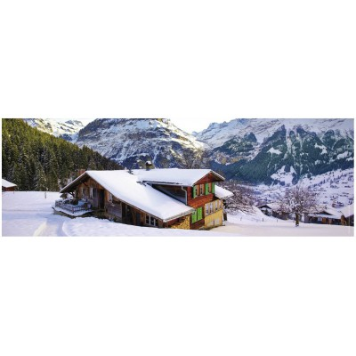 Puzzle Ravensburger-14463 Berg im Winter