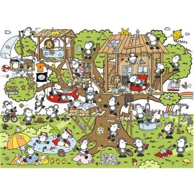 Puzzle Ravensburger-14644 Sheepworld: Im Baumhaus