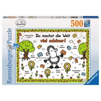 Puzzle Ravensburger-14646 Sheepworld - Du machst die Welt viel schöner