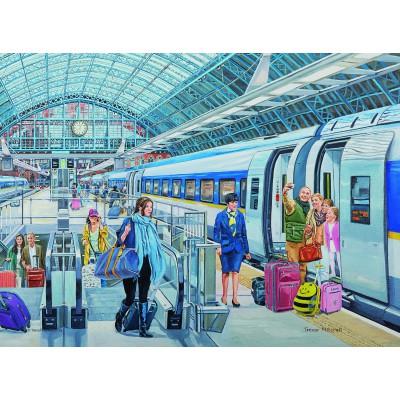 Puzzle Ravensburger-14694 Trevor Mitchell: Eurostar at St Pancras