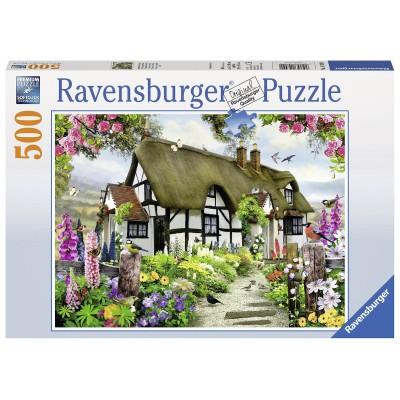 Puzzle Ravensburger-14709 Verträumtes Cottage
