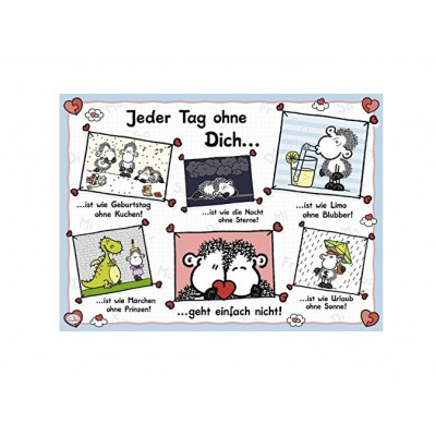 Puzzle Ravensburger-14711 Sheepworld: Jeder Tag ohne dich