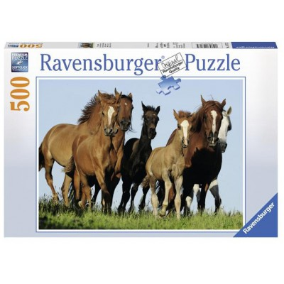 Puzzle Ravensburger-14717 Pferde