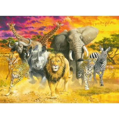 Puzzle Ravensburger-14724 Afrikanische Tiere