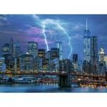 Puzzle  Ravensburger-14909 Star Line - Blitze über New York