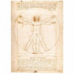 Puzzle  Ravensburger-15250 Leonardo da Vinci: Der vitruvianische Mensch