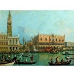 Puzzle  Ravensburger-15402 Canaletto: Canale Grande in Venedig