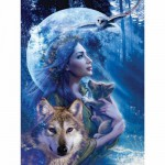 Puzzle  Ravensburger-15414 Wolfsfrau