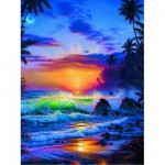 Puzzle  Ravensburger-15650 Lassen: Island Sunrise