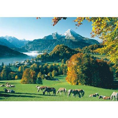 Puzzle Ravensburger-15741 Berchtesgaden gegen Watzmann
