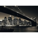 Puzzle  Ravensburger-15835 Manhattan mit Brooklyn Bridge
