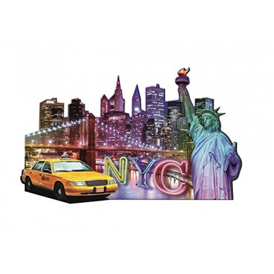 Ravensburger-16153 Silhouette Puzzle - Skyline, New York