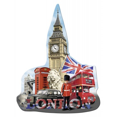 Ravensburger-16155 Silhouette Puzzle - Big Ben, London