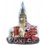 Ravensburger-16155 Silhouette Puzzle - Big Ben, London