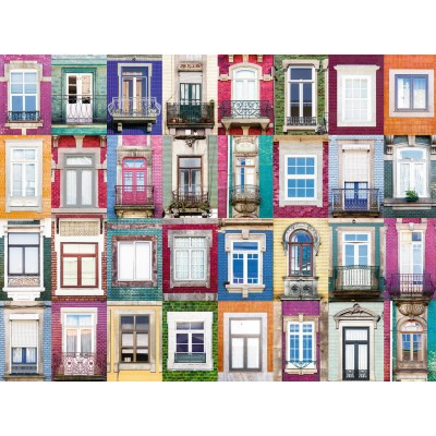 Puzzle Ravensburger-16217 Collage - Fenster in Porto
