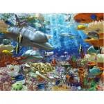 Puzzle  Ravensburger-16273 Leben unter Wasser