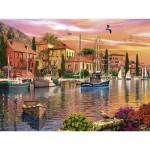 Puzzle  Ravensburger-16280 Dominic Davison: Mediterraner Hafen