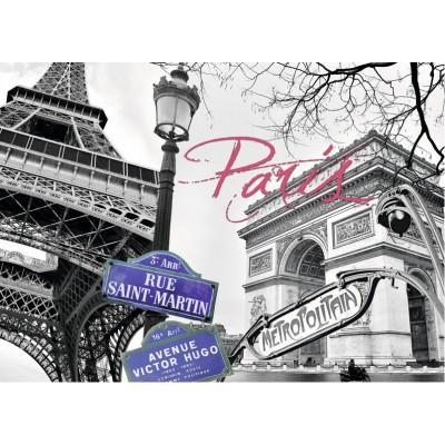 Puzzle Ravensburger-16296 Paris, mon amour