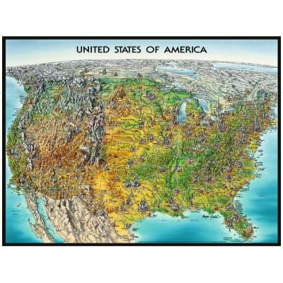 Puzzle Ravensburger-16313 USA Karte