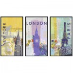Puzzle  Ravensburger-16329 New York, London, Paris