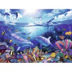 Puzzle  Ravensburger-16331 Lassen: Tag der Delfine