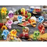 Puzzle  Ravensburger-16608 Gelini: Küche, Kochen, Leidenschaft