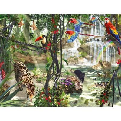 Puzzle Ravensburger-16610 Dschungelimpressionen