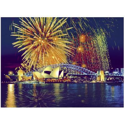 Puzzle Ravensburger-16622 Feuerwerk über Sydney