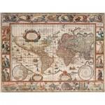 Puzzle  Ravensburger-16633 Weltkarte um 1650 - 2000