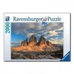 Puzzle  Ravensburger-16677 Die drei Zinnen, Italien